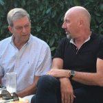 Carsten Meyer-Heder beim Terassengesrpäch in Borgfeld